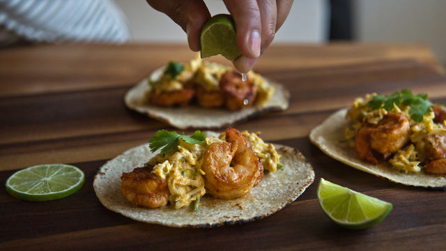 Mango Chile Shrimp Tacos