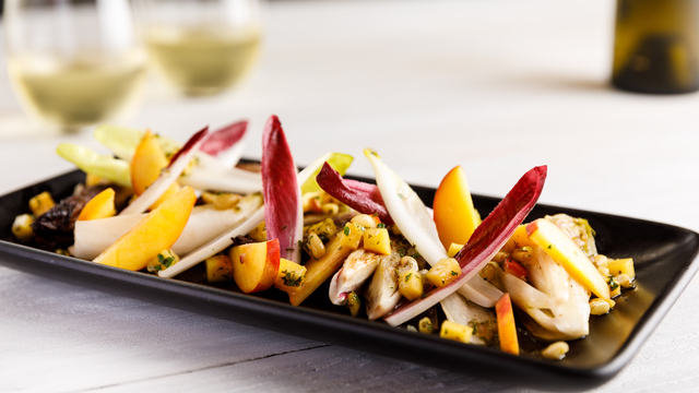 Roasted Endive and Stone Fruit Salad